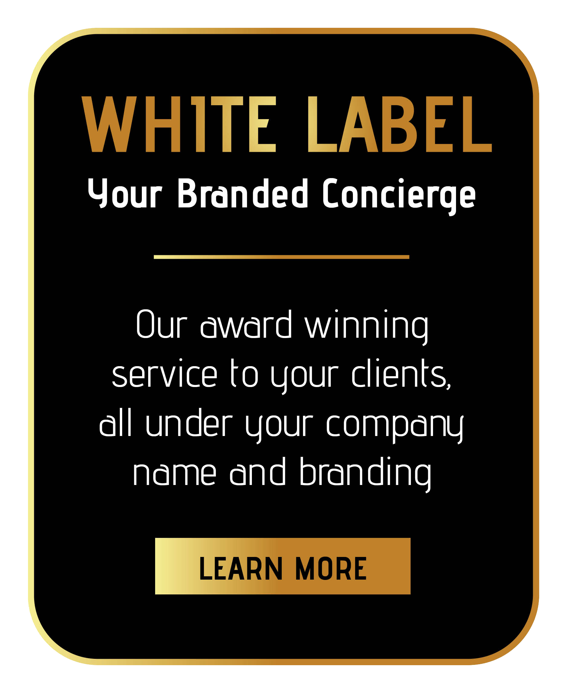 join sincura white label concierge membership supplying our concierge services to your clients branded under your name