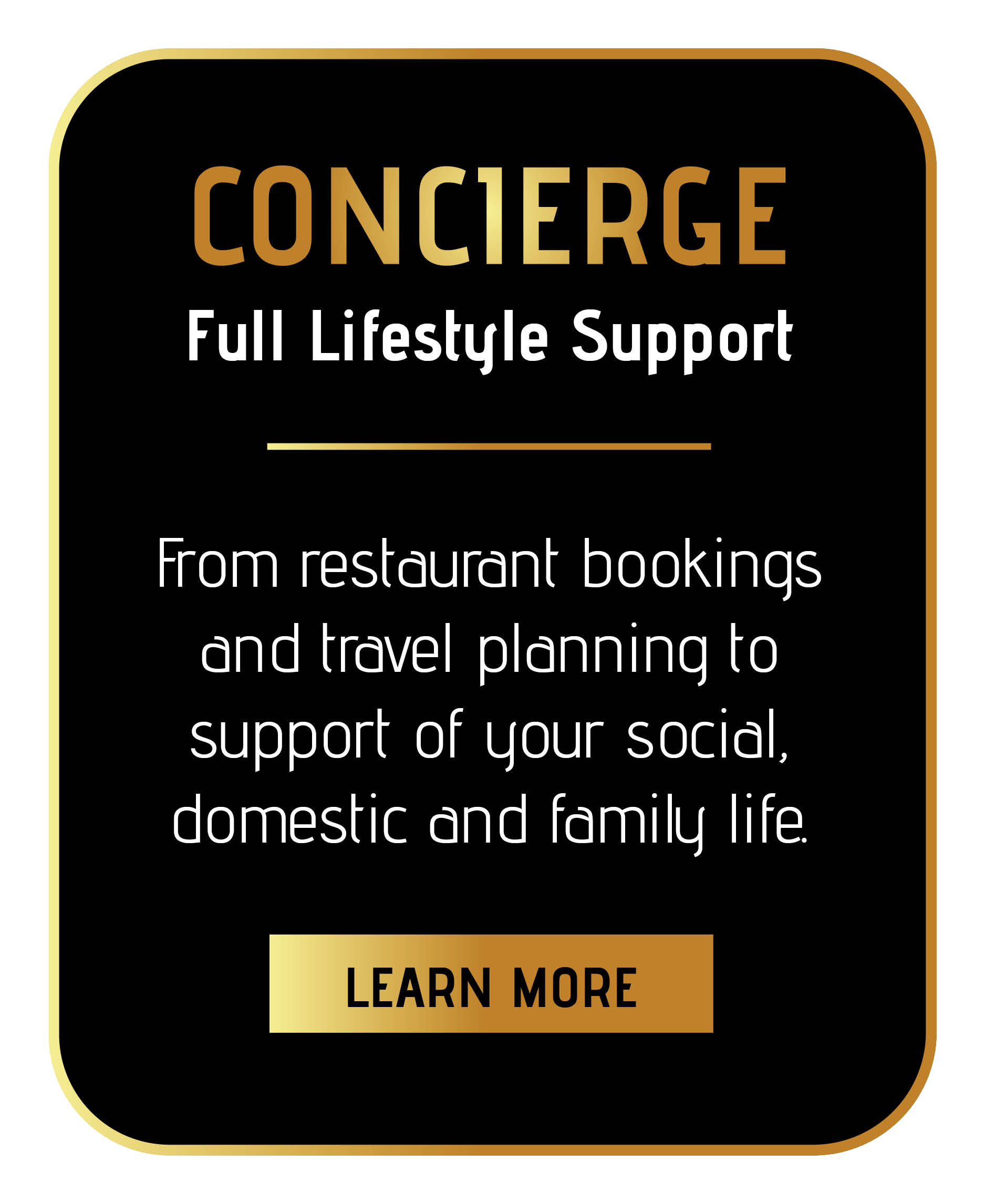 join sincura concierge membership for our award wining lifestyle services