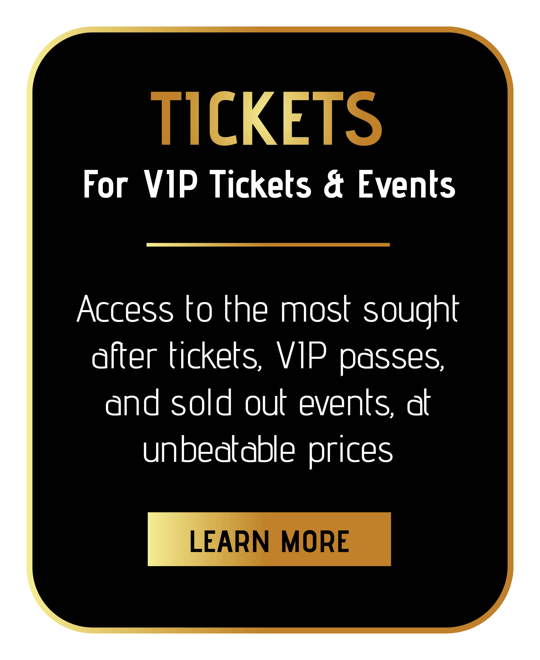 join sincura tickets membership for tickets to exclusive events at unbeatable prices