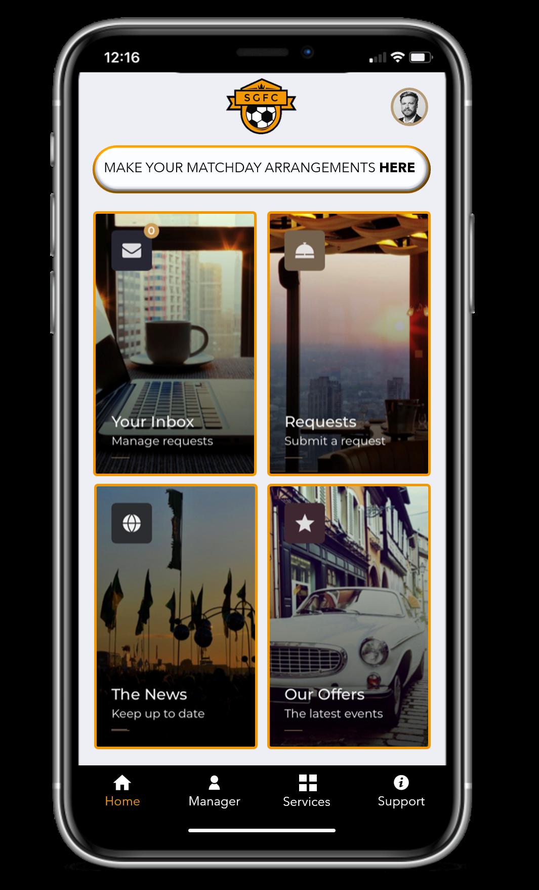 concierge app for sports team