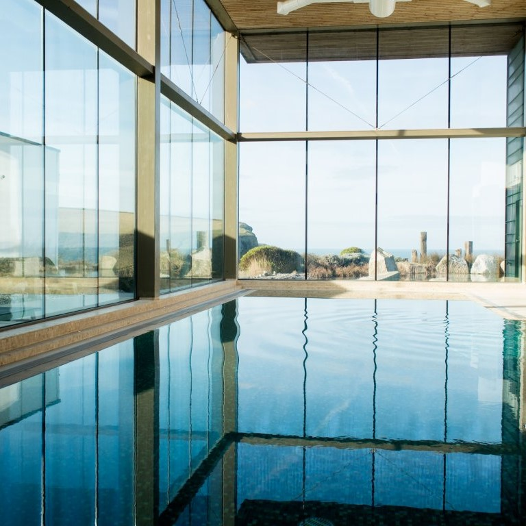 Take in the astonishing views at the scarlet spa