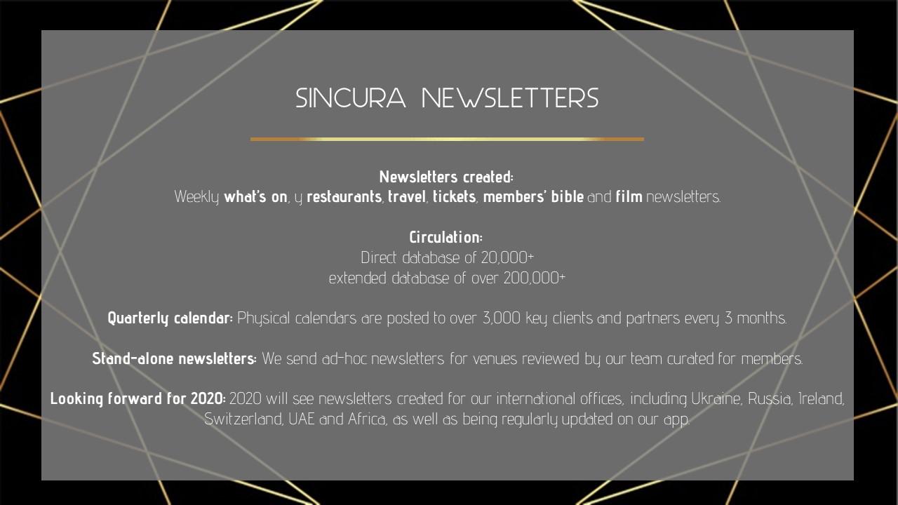 what is sincuras reach