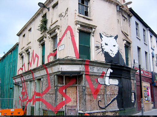 banksy Liverpool Rat