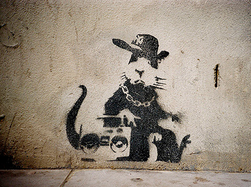 Banksy Gangsta Rat