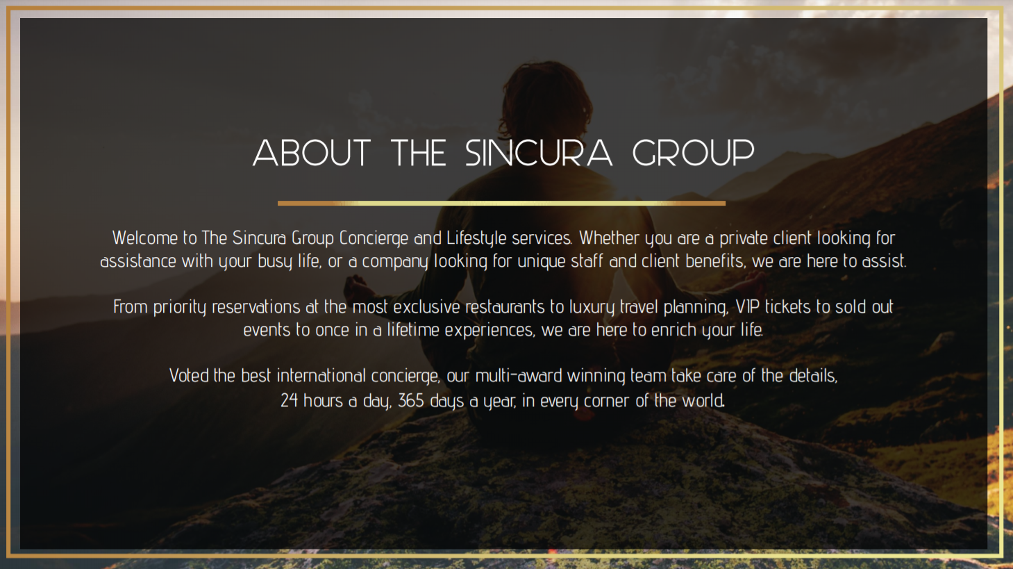 sincura media pack about the sincura group