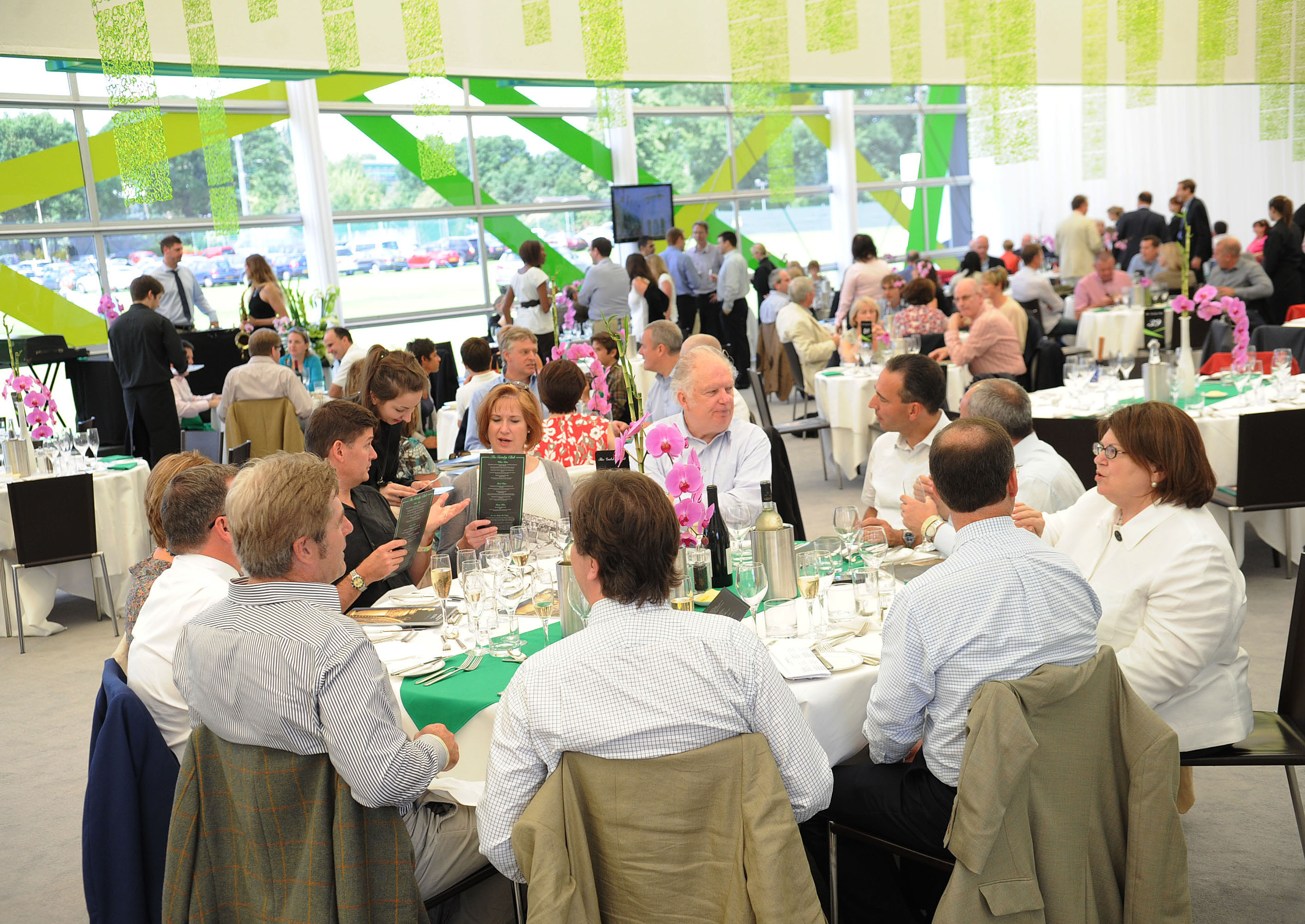 The Wimbledon Gatsby Club is another great hospitality option to entertain clients