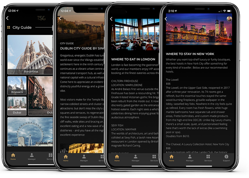 city guides in app