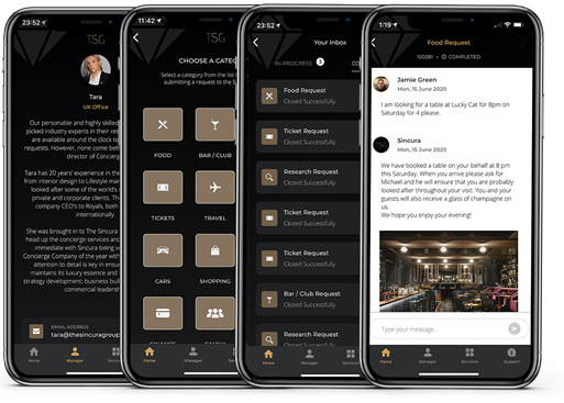 brand new app with concierge services
