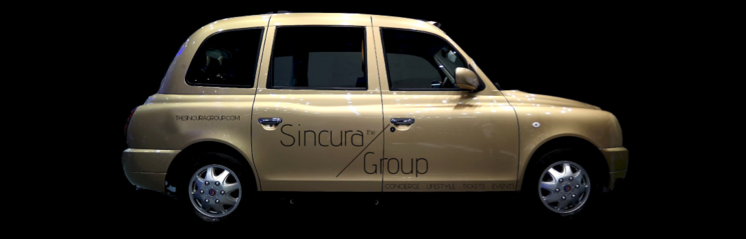 sincura branding on car