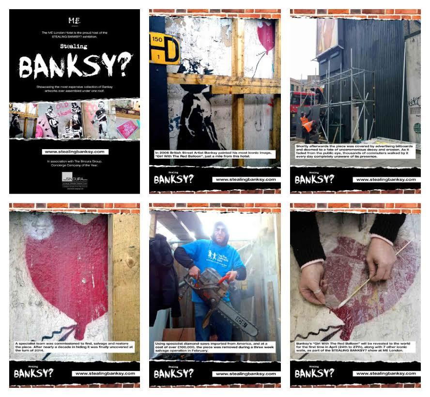 sincura arts team restoration, salvage, exhibition and sale of banksy artwork