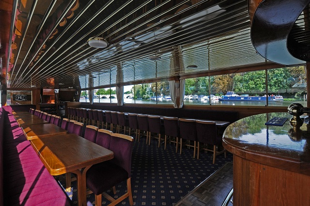 Beautiful interior of Henley Barge, The Waterman
